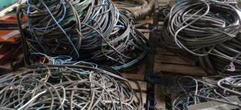 Reciclagem fios e cabos